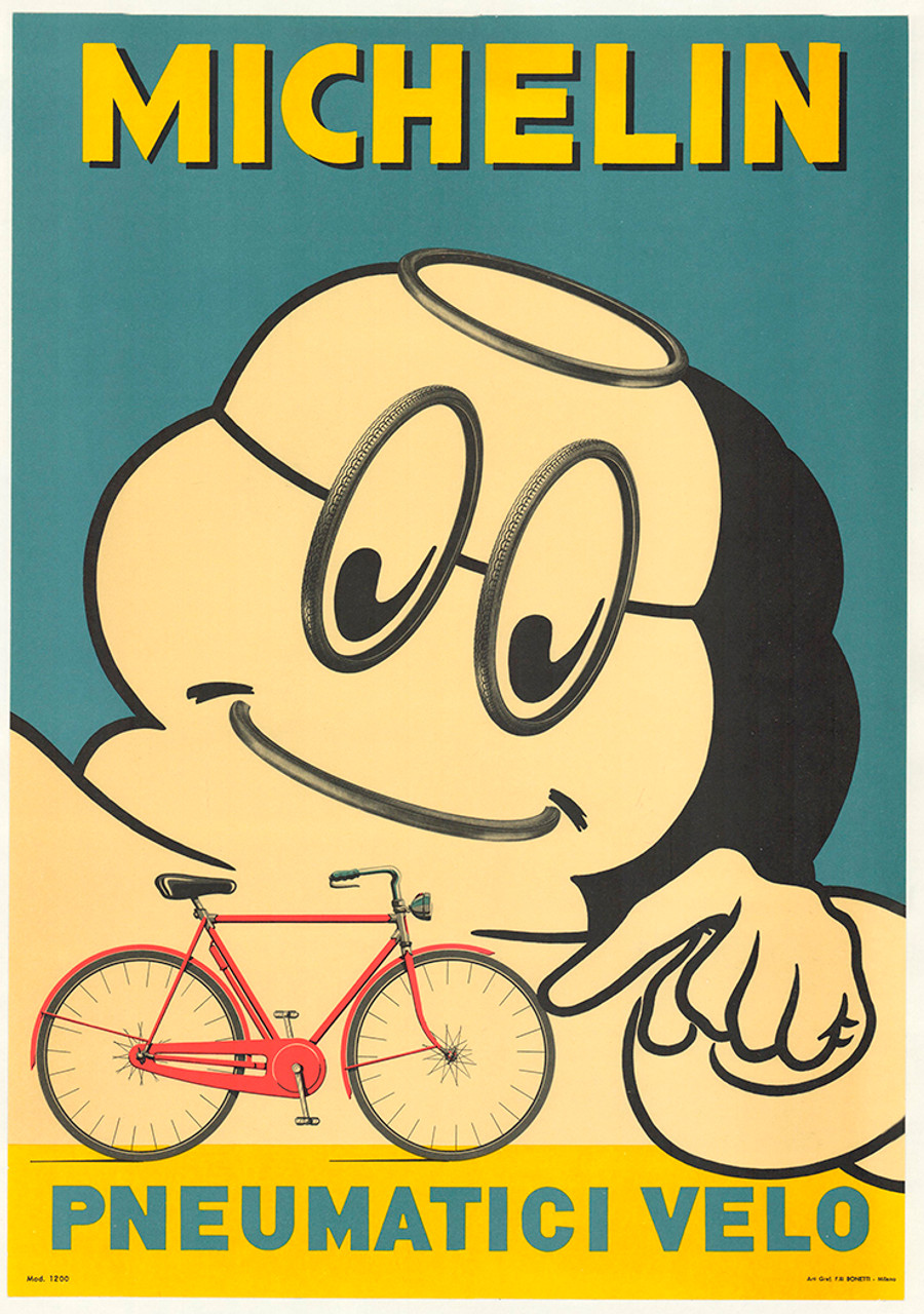 Michelin Pneumatici Velo Original Vintage Bicycle Poster