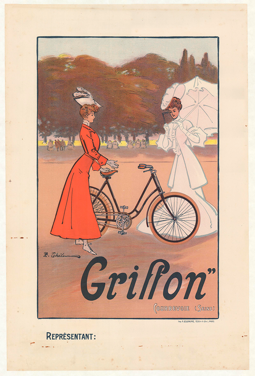 Griffon Original Vintage Bicycle Poster by Teheleu