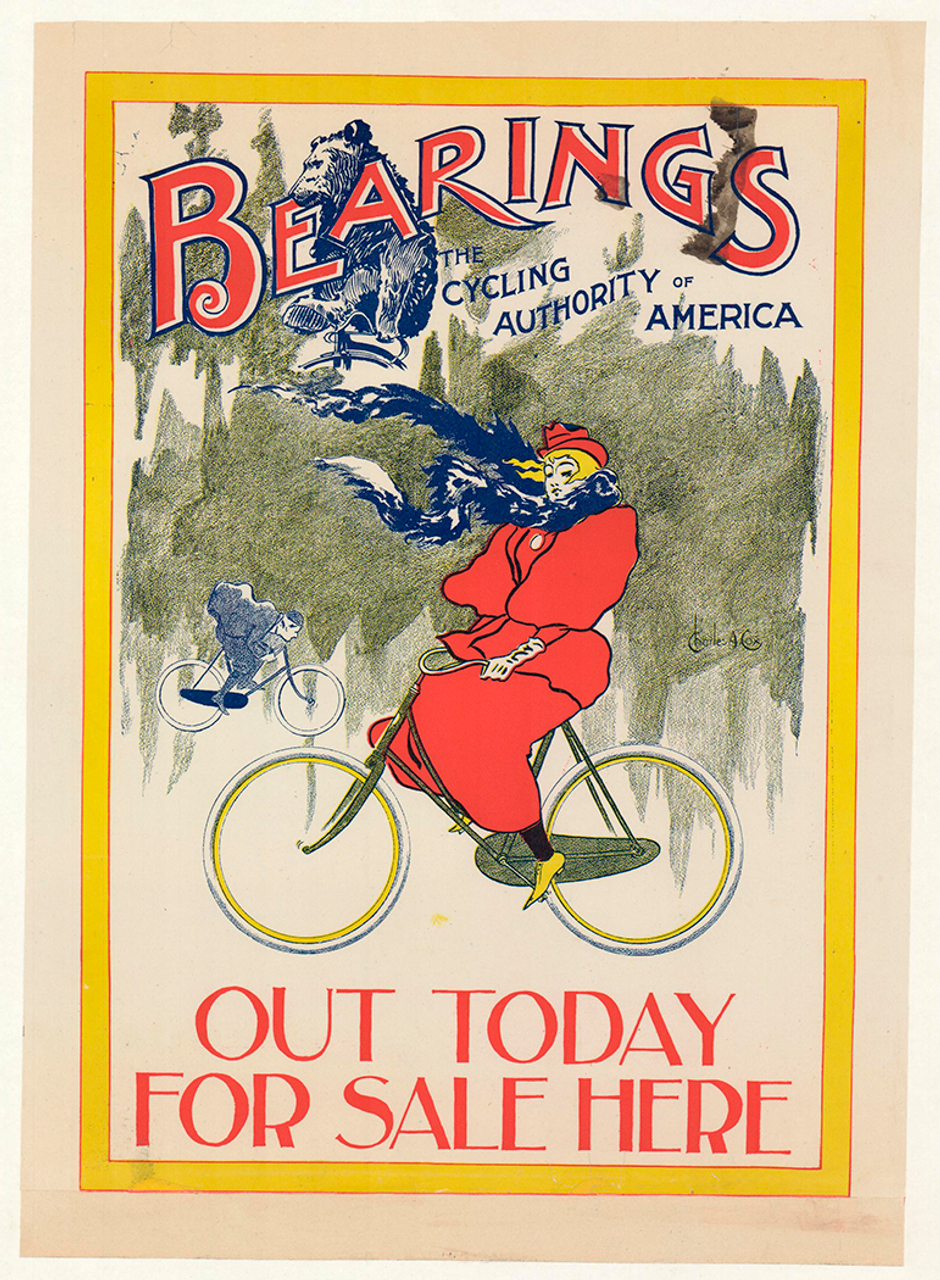 Bearings Winter Riding Original Vintage Poster by Charles A Cox