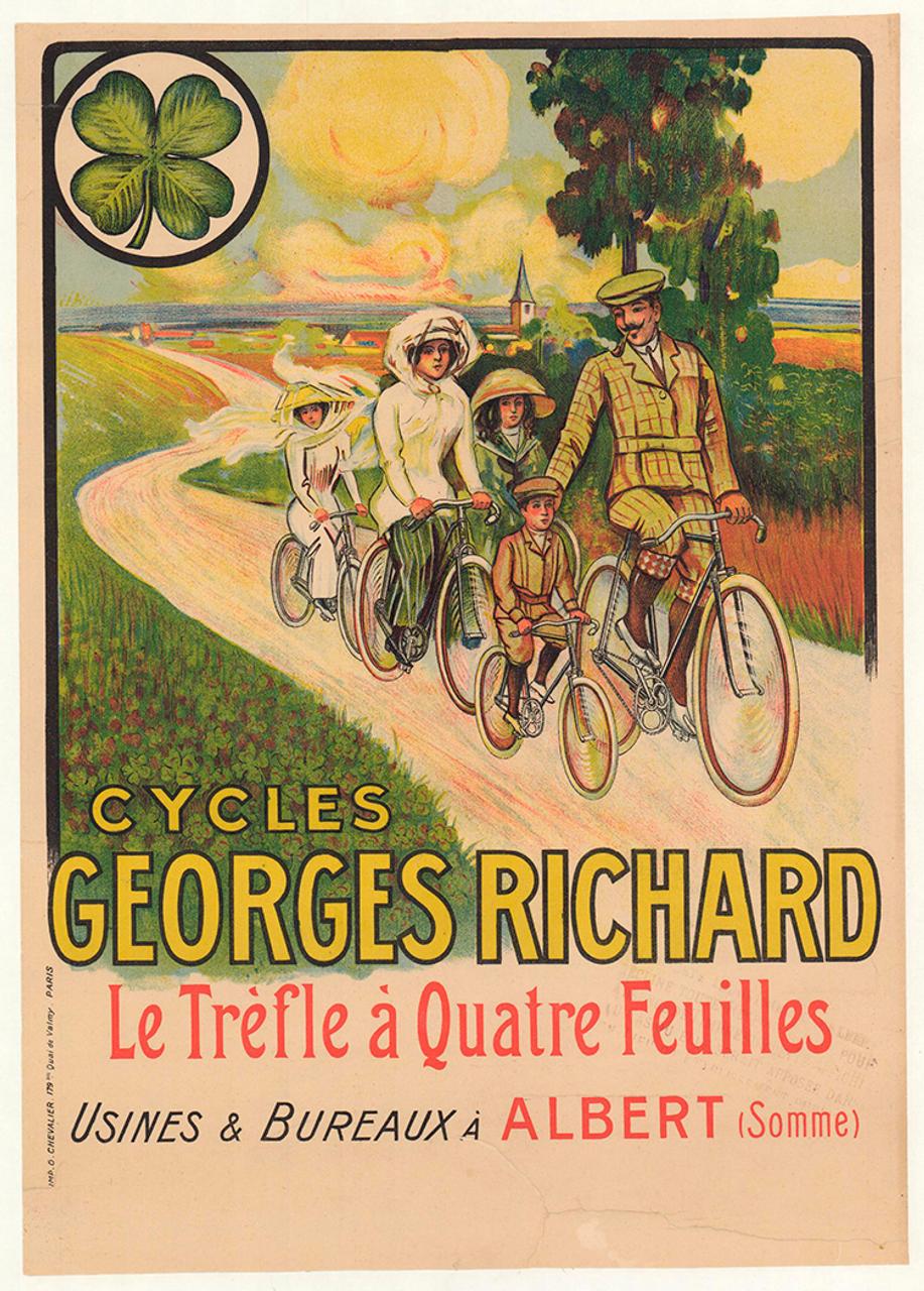 Cycles Georges Richard Original Vintage Bicycle Poster