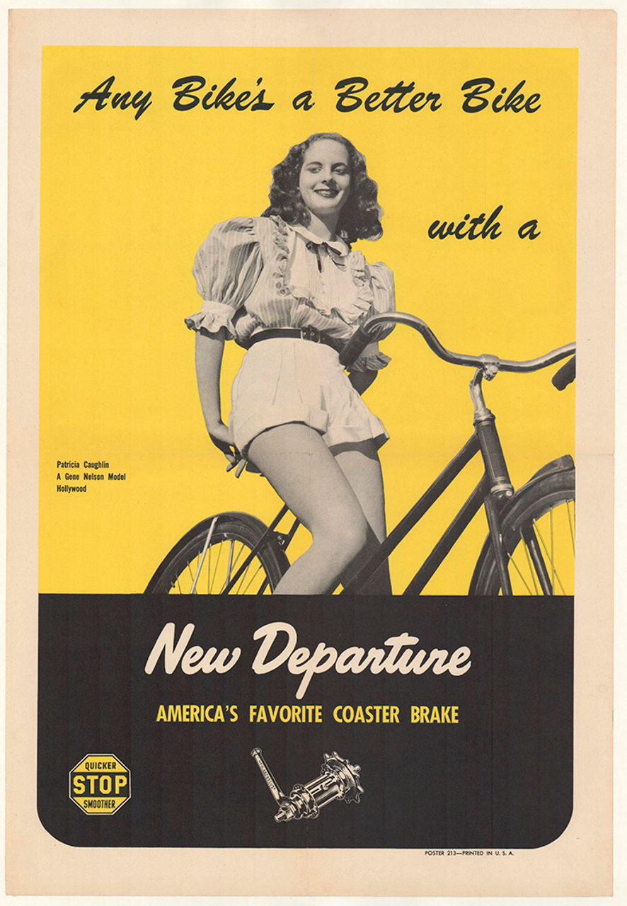 New Departure - Patricia Coughlin Original Vintage Bicycle Poster