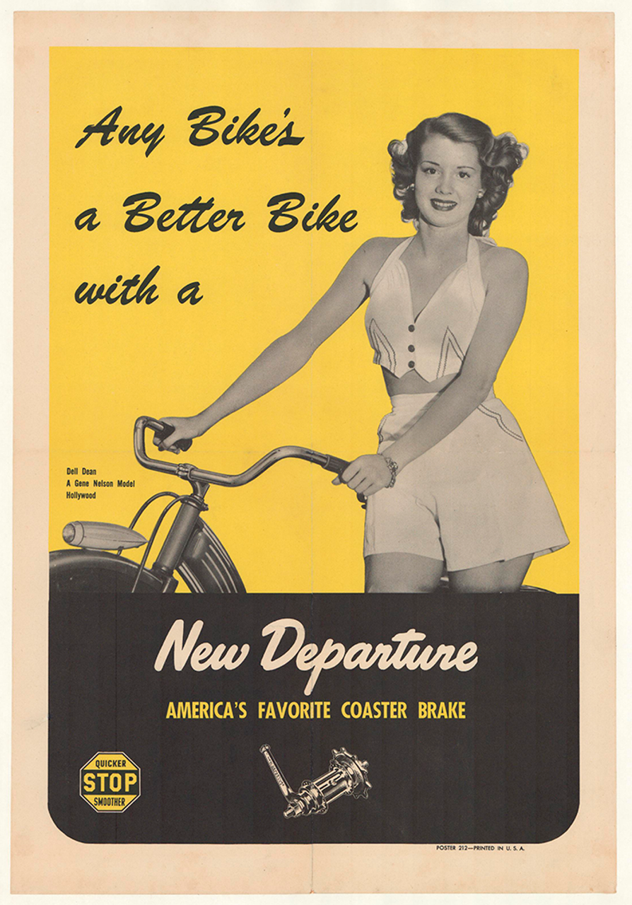 New Departure - Dell Dean Original Vintage Bicycle Poster