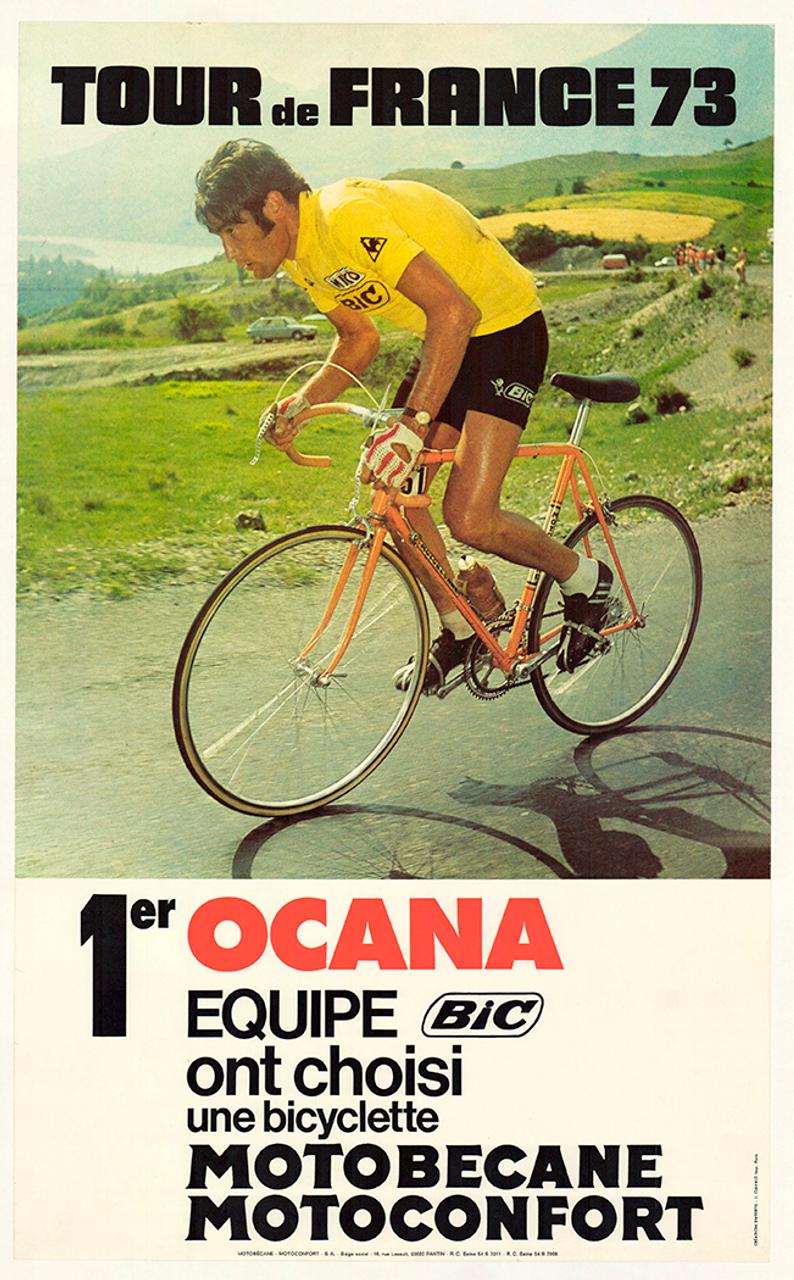 Tour De France Ocana Motobecane Original Vintage Bicycle Poster