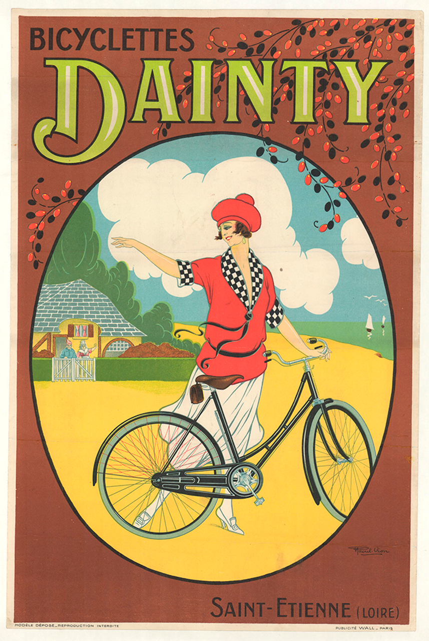 Bicyclettes Dainty Original Vintage Bicycle Poster by Vion