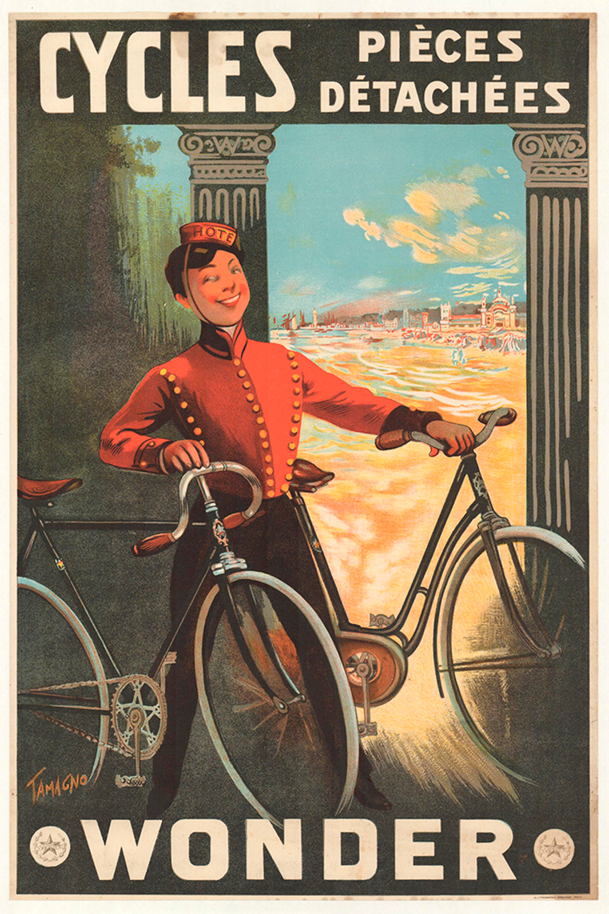 Cycles Wonder Original Vintage Bicycle Poster by Tamagno