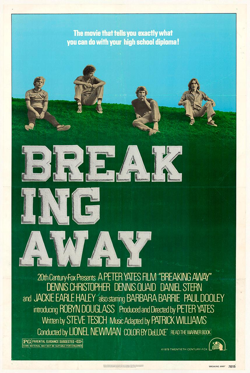 Breaking Away Original Vintage Bicycle Movie Poster