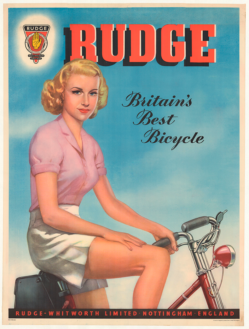 Rudge Pin-up Original Vintage Bicycle Poster