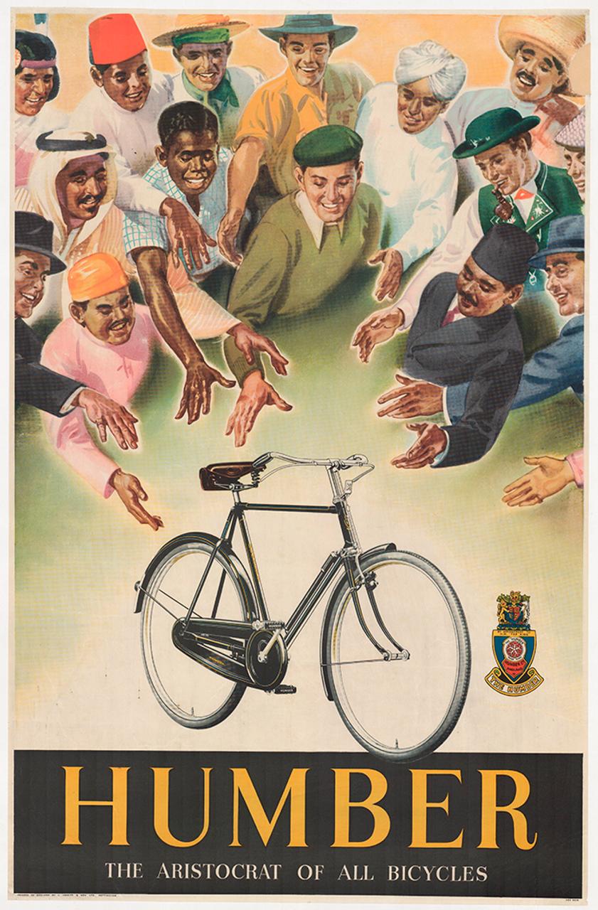 Humber Aristocrat Original Vintage Bicycle Poster