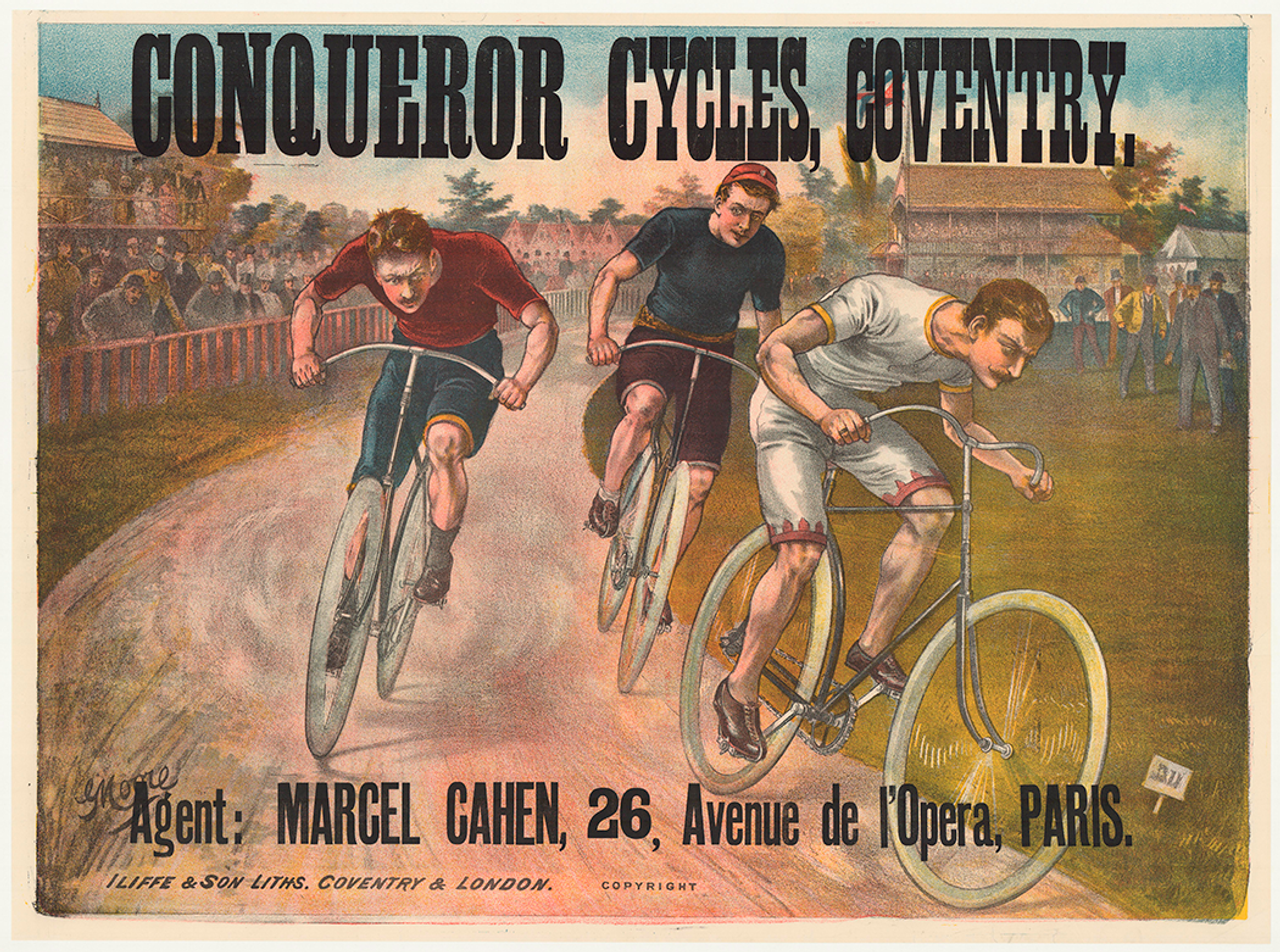 Conqueror Cycles Coventry Original Vintage Bicycle Poster by G. Moore