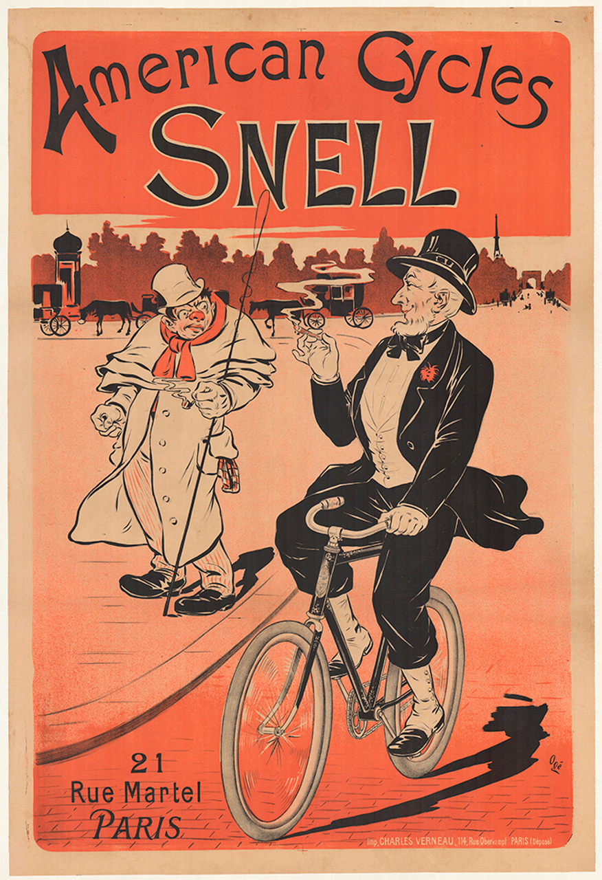 American Cycles Snell Original Vintage Bicycle Poster by Oge