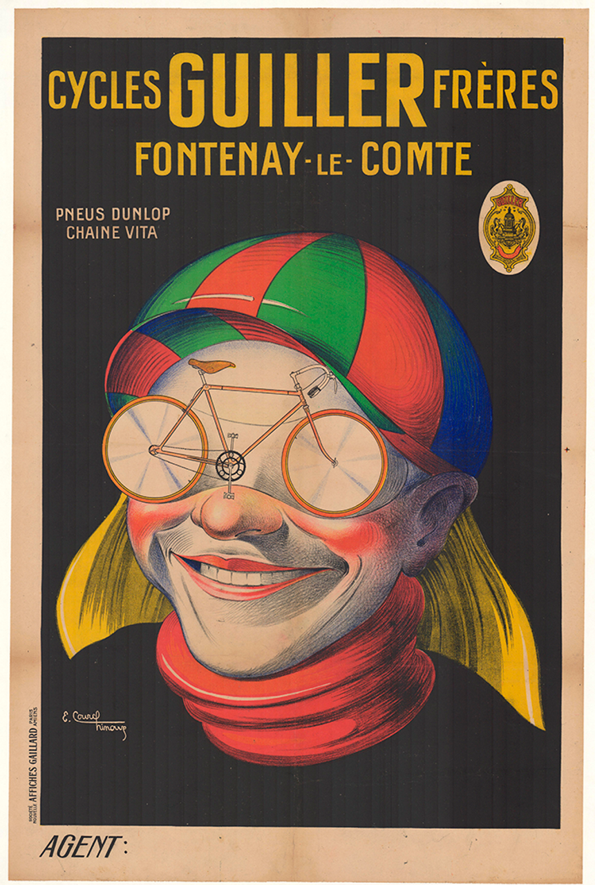 Cycles Guiller Freres Original Vintage Bicycle Poster by E. Courchinoux