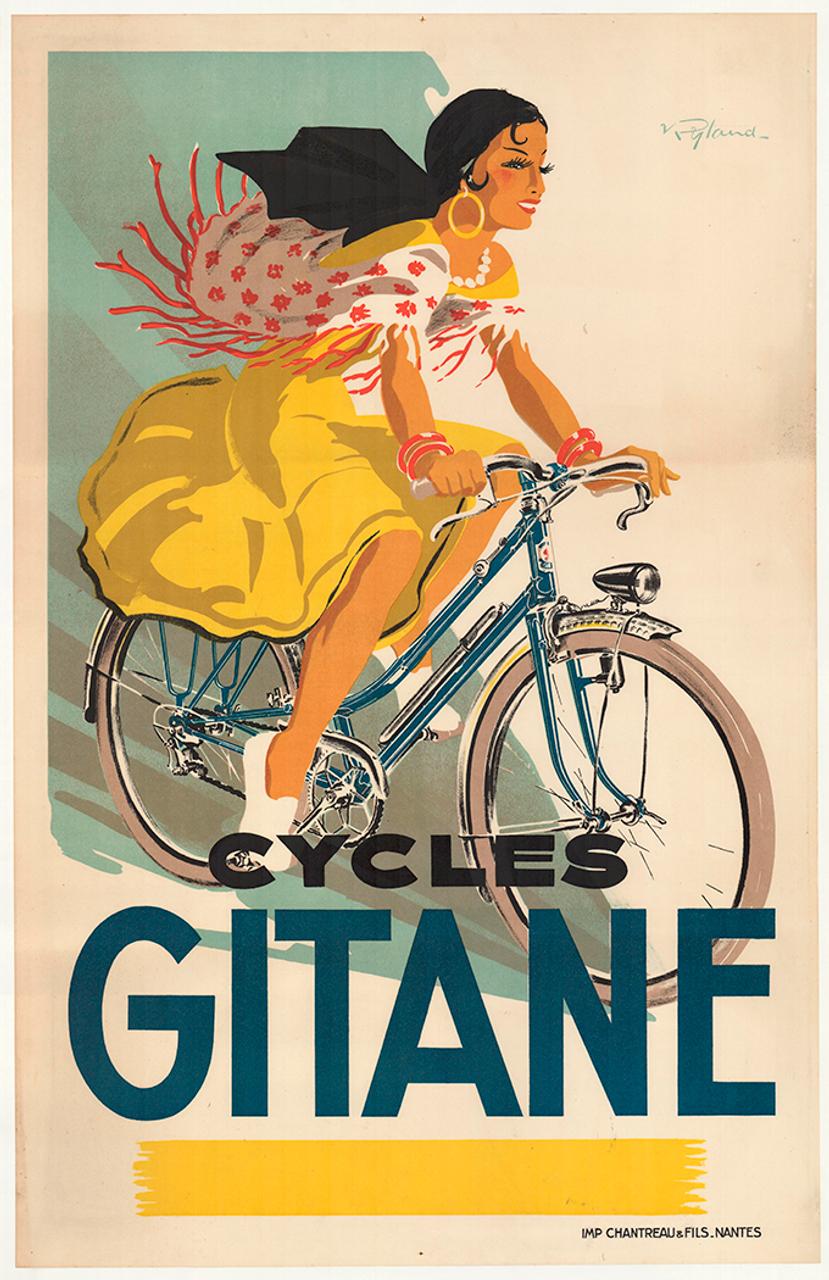 Cycles Gitane Original Vintage Bicycle Poster
