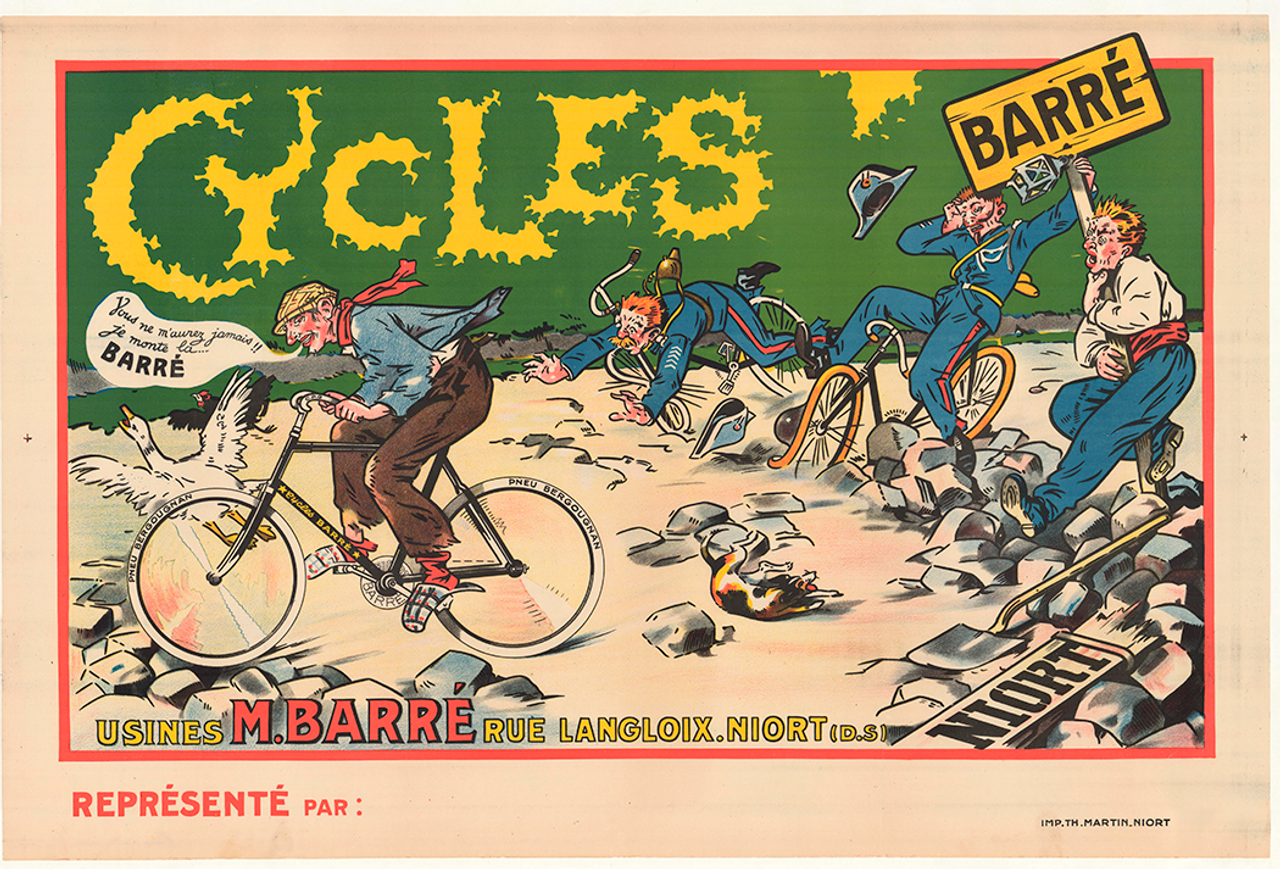 Cycles Barre Original Vintage Bicycle Poster
