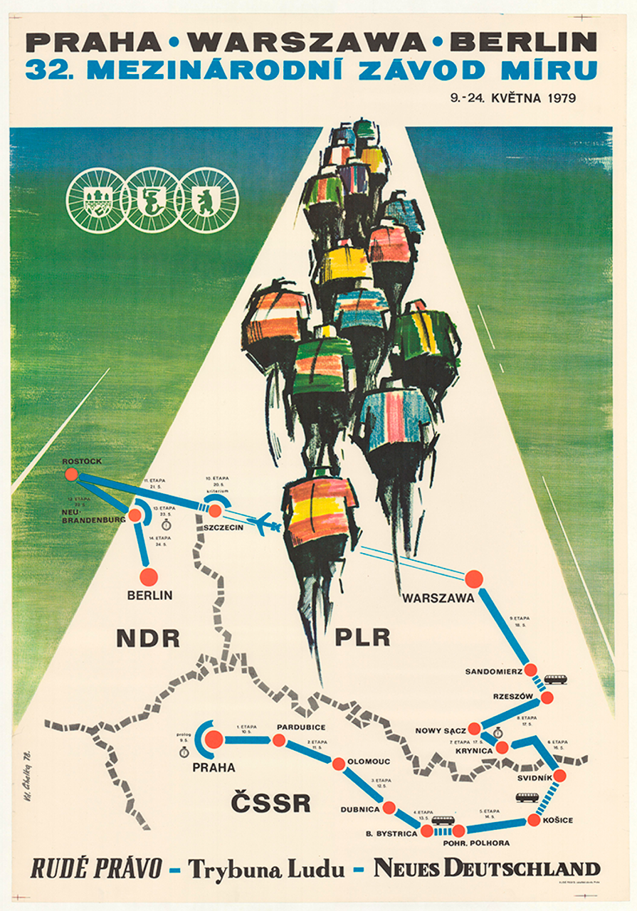 1979 Peace Race Vintage Bicycle Poster