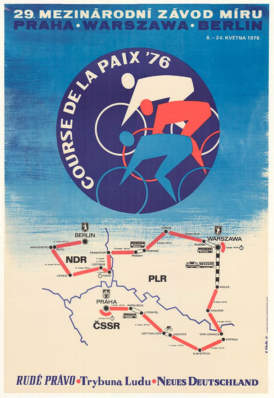 1976 Peace Race Vintage Bicycle Poster