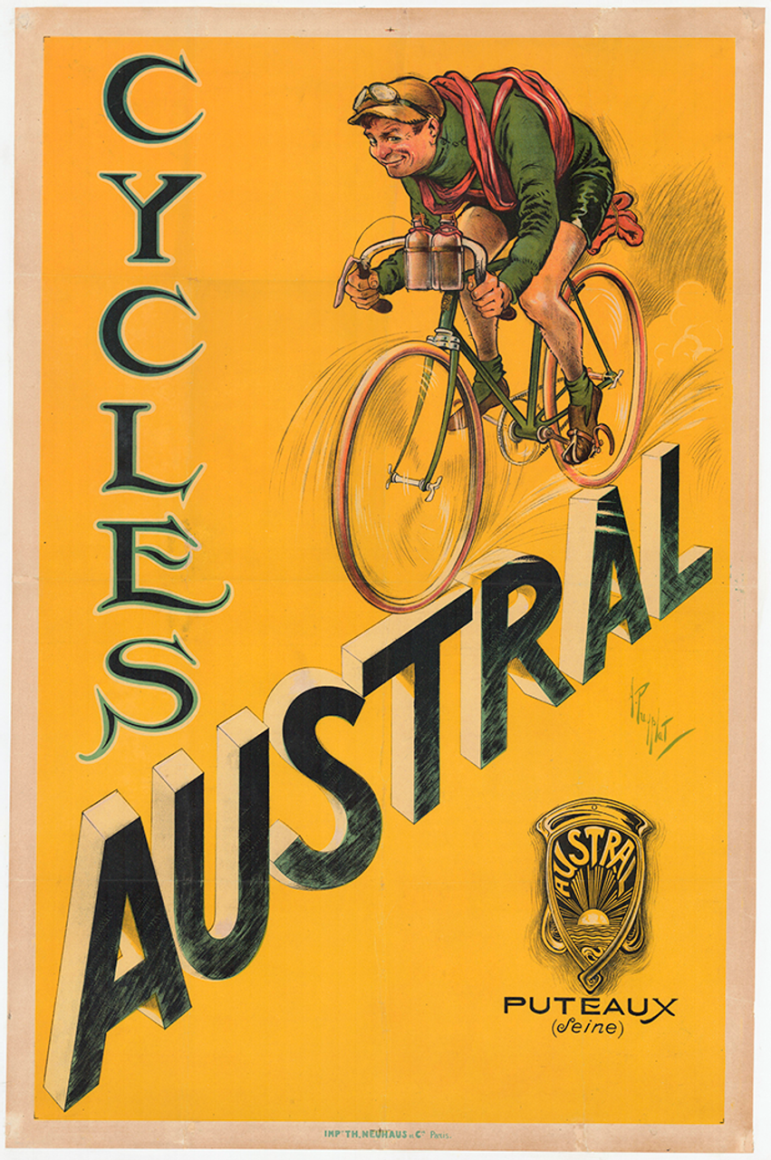 Cycles Austral Original Vintage Bicycle Poster by Puyplat