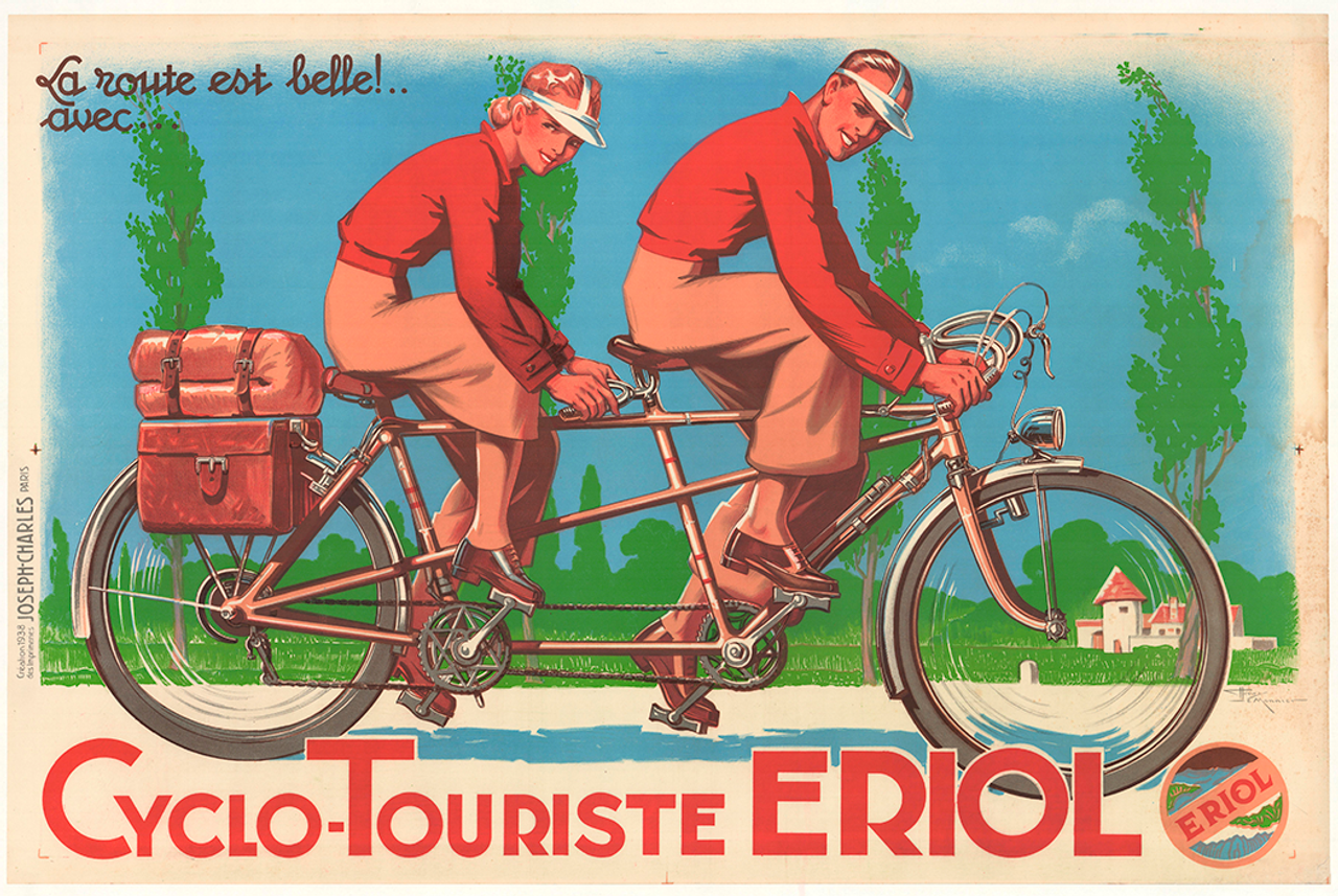 Cyclo-Touriste Erol Original Vintage Bicycle Poster by Monnier