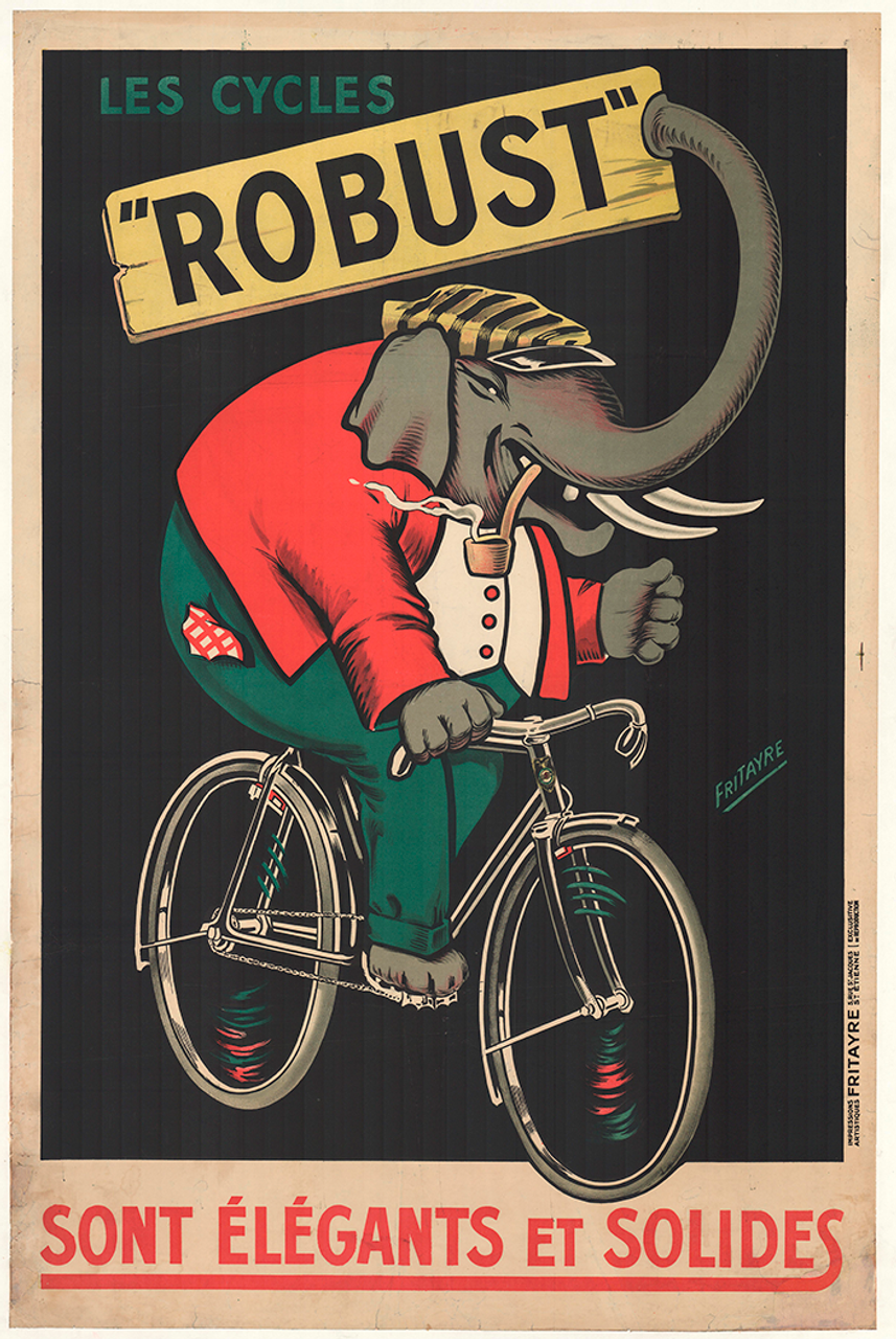 Les Cycles Robust Original Vintage Bicycle Poster by Fritayre