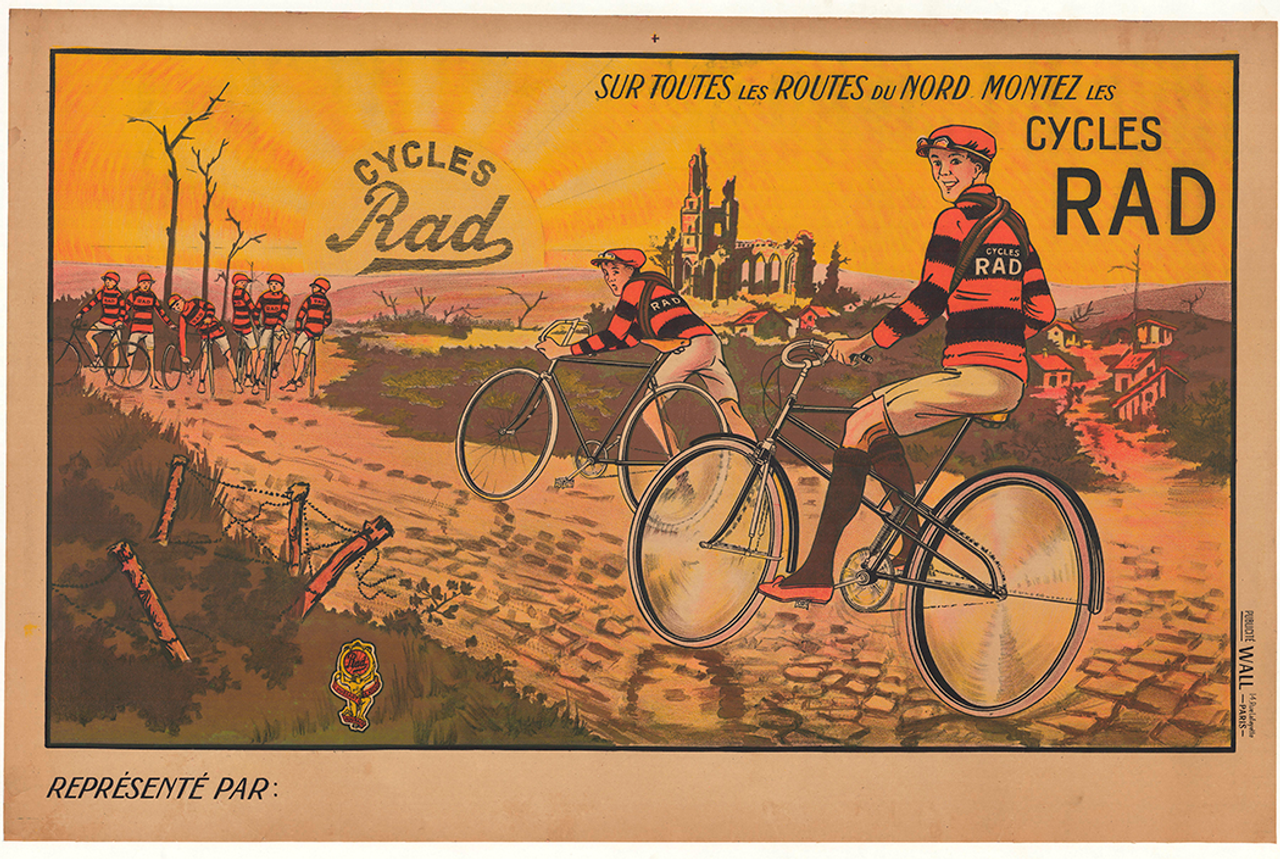 Cycles Rad Original Vintage Bicycle Poster