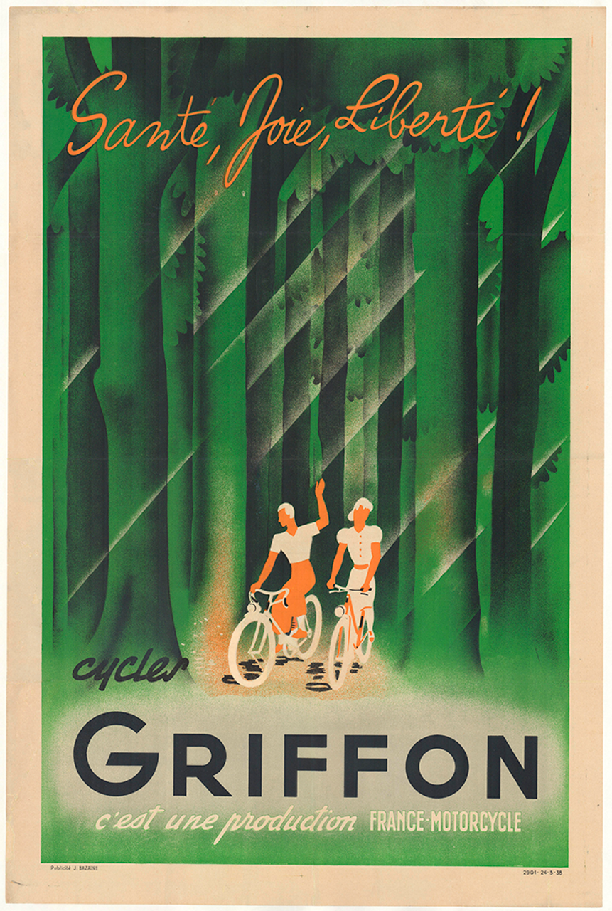 Cycles Griffon Original Vintage Bicycle Poster