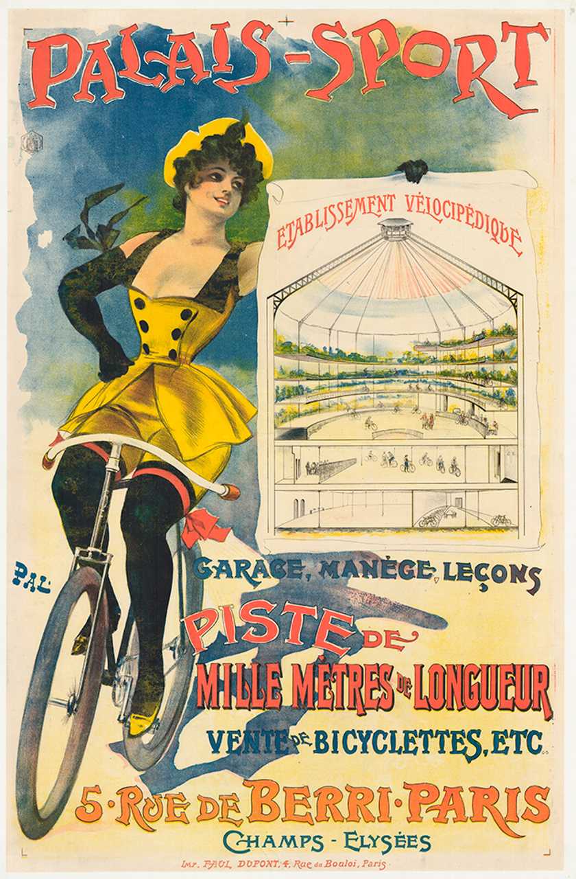 Palais-Sport Velodrome Original Vintage Bicycle Poster by PAL