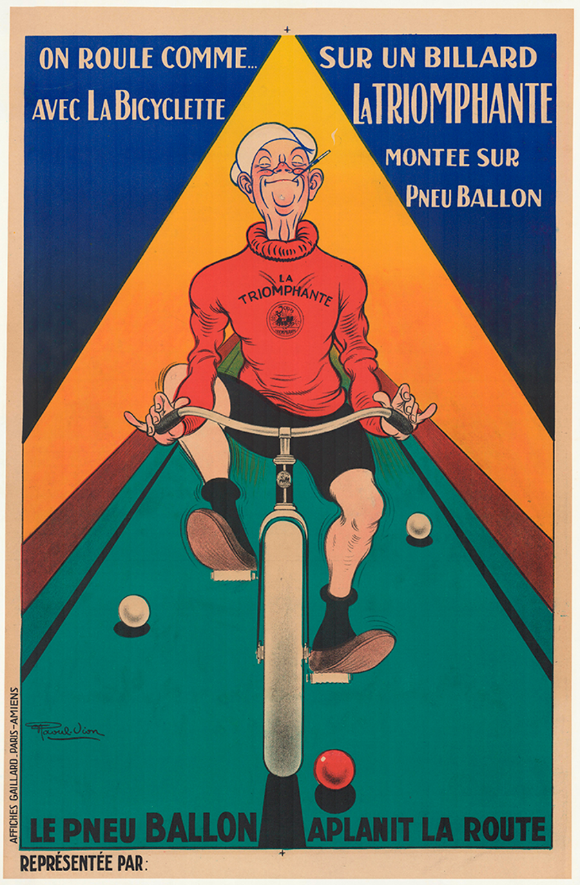 La Triomphante Original Vintage Bicycle Poster by Raoul Vion