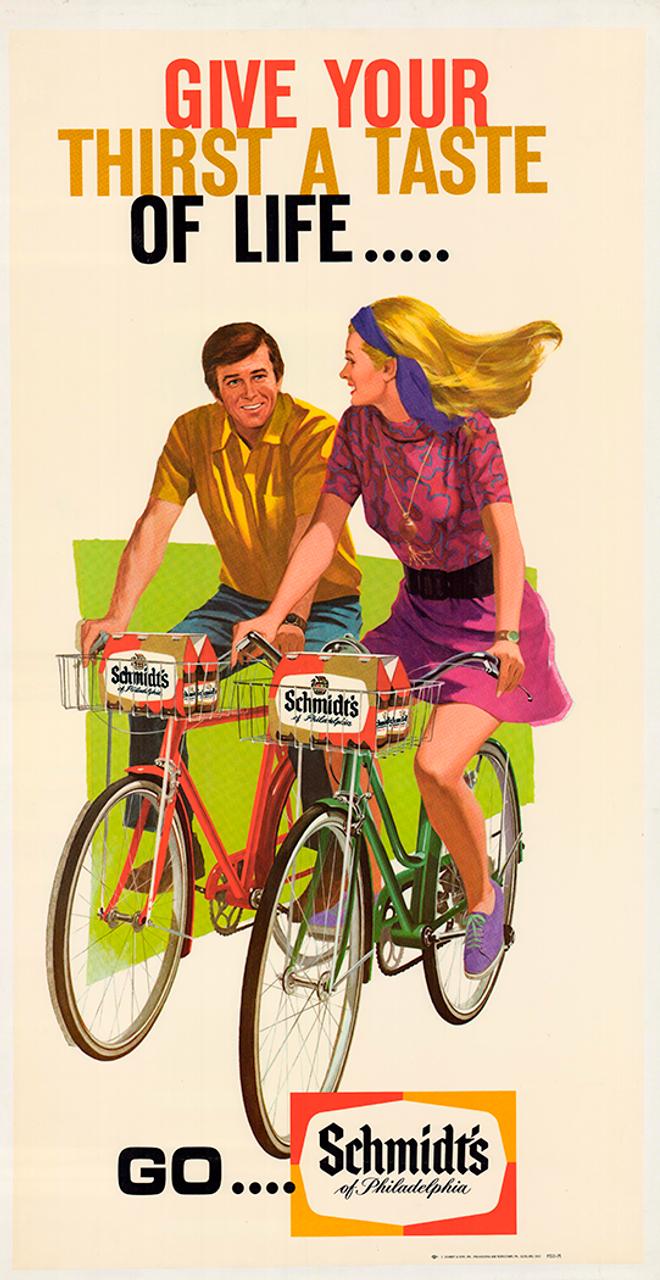 Schmidt's of Philadelphia Original Vintage Bicycle Poster