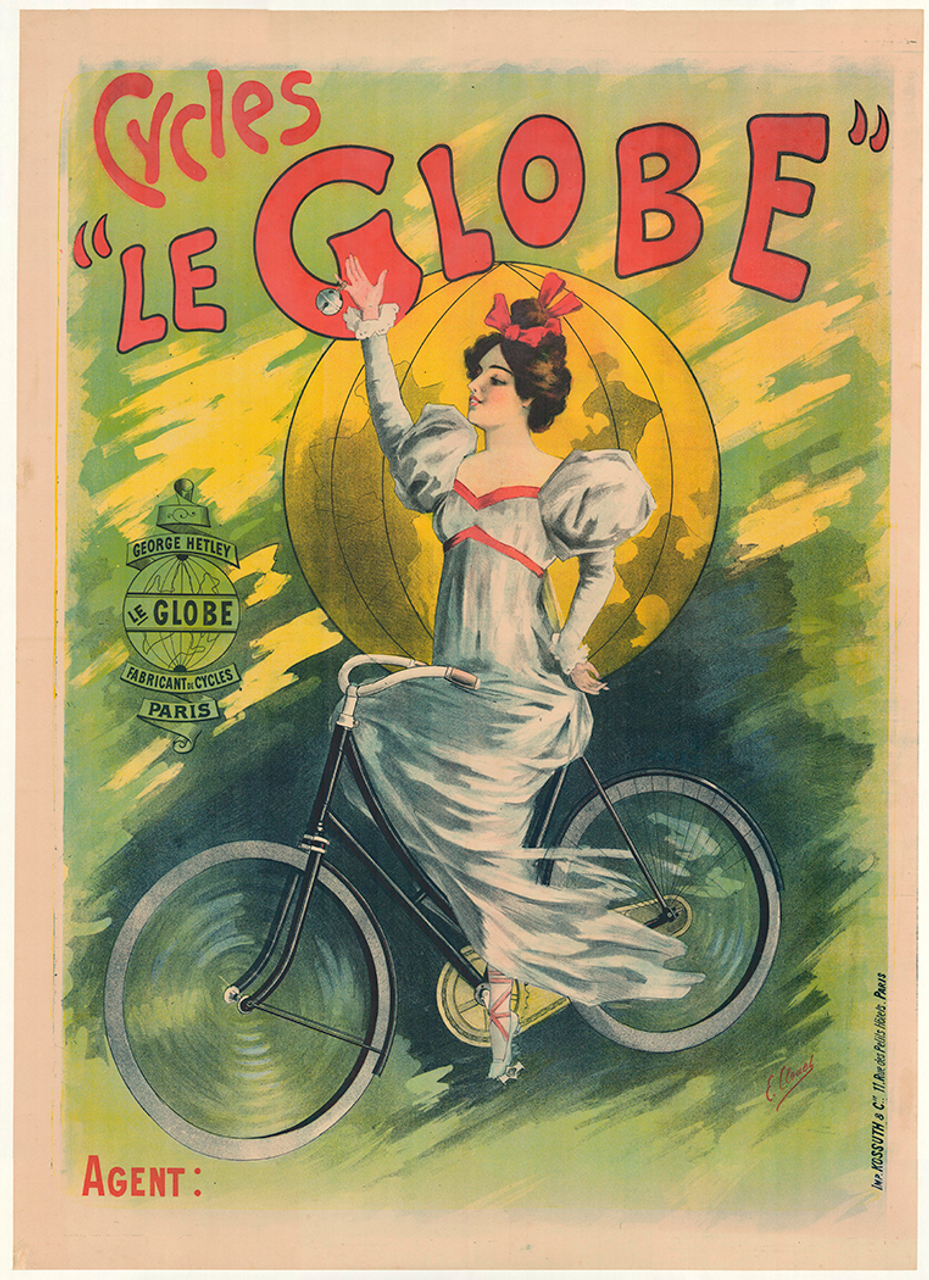 Cycles Le Globe Original Vintage Bicycle Poster by Clouet