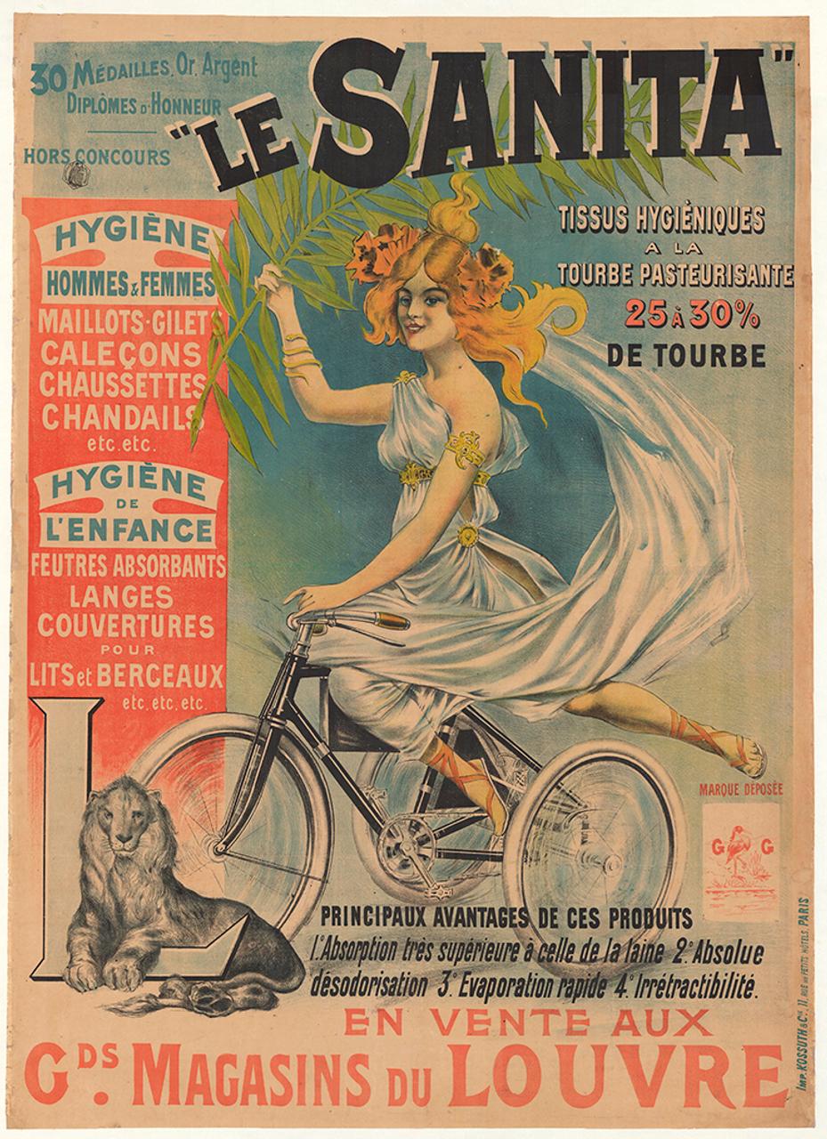 Le Sanita Original Vintage Bicycle Poster