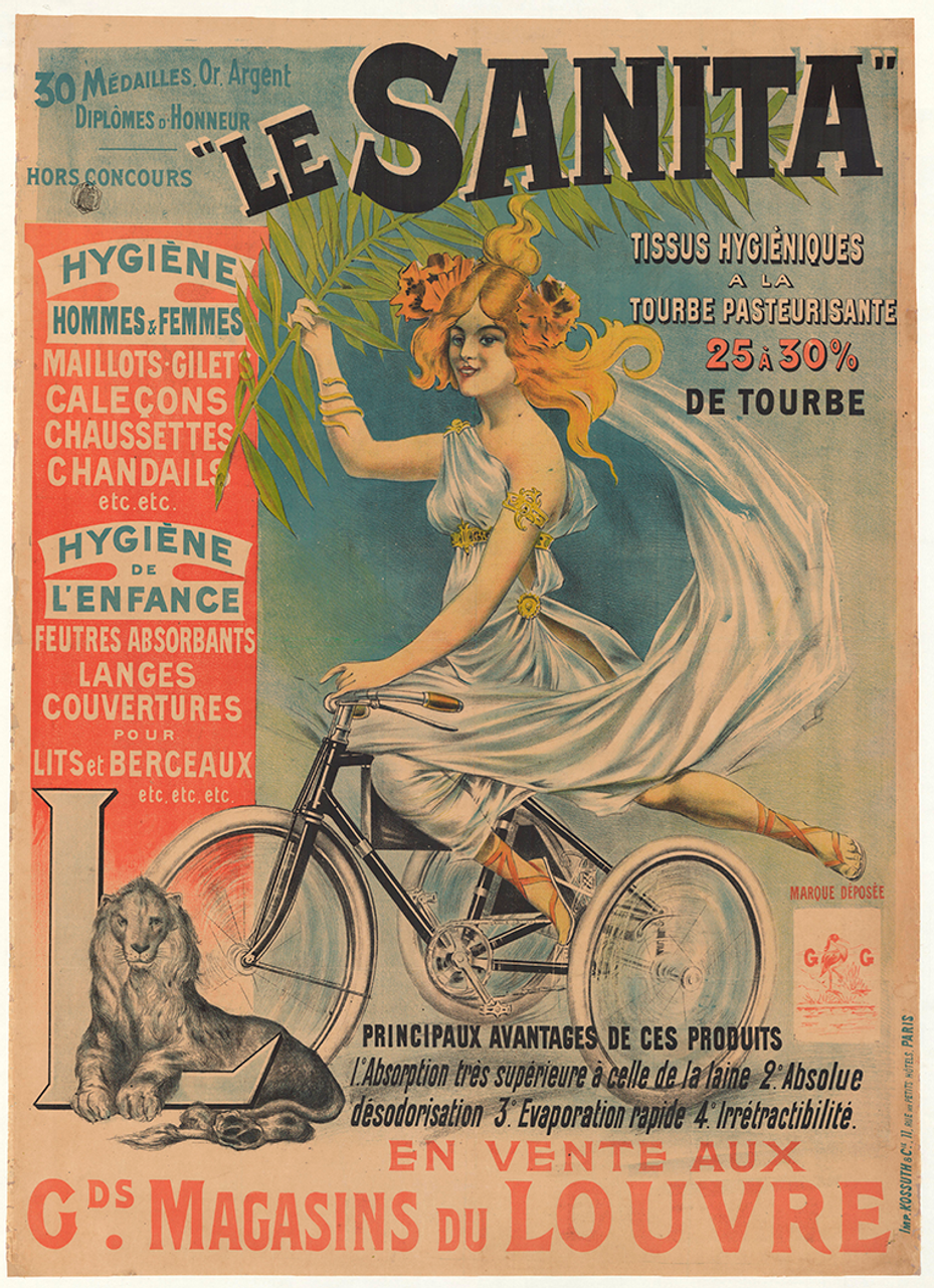 Le Sanita Original Vintage Bicycle Poster