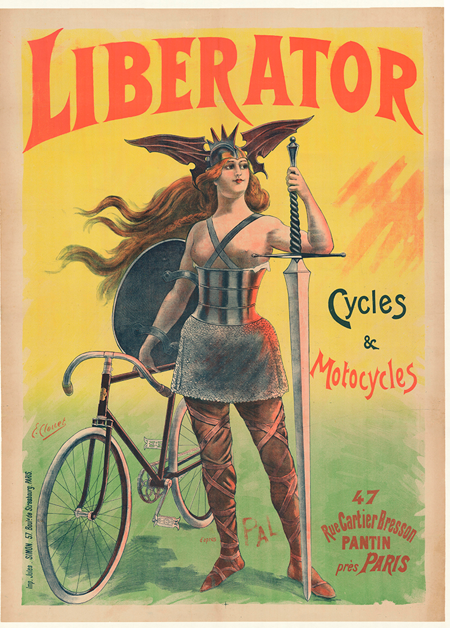 Liberator Original Vintage Bicycle Poster by Clouet/PAL