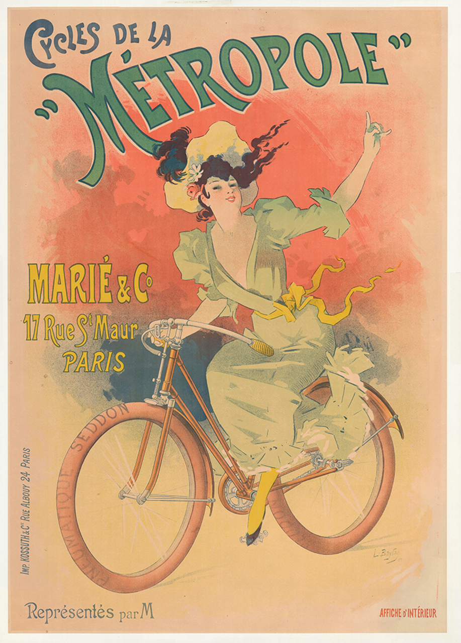 Cycles de La Metropole Original Vintage Bicycle Poster by Baylac