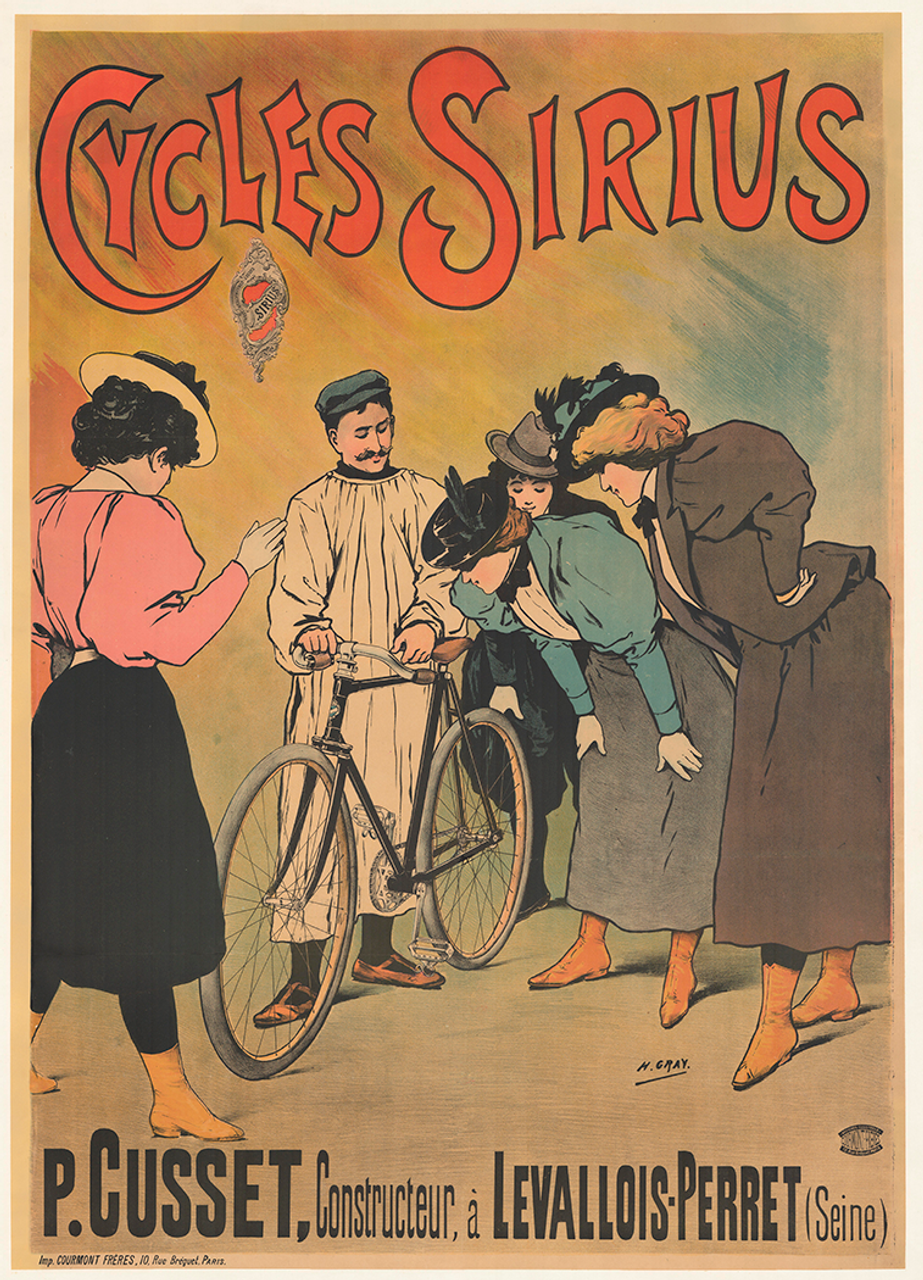 Cycles Sirius Original Vintage Bicycle Poster by H. Gray