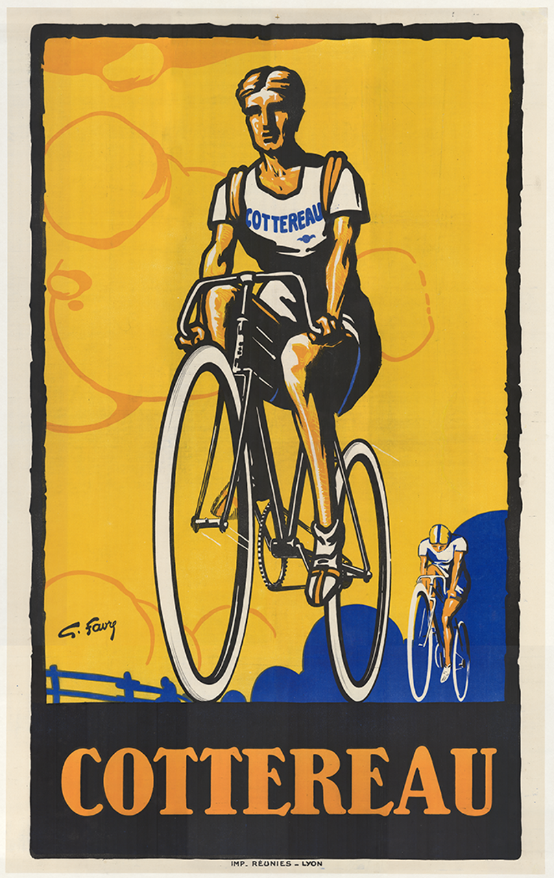 Cottereau Racing Original Vintage Bicycle Poster by Georges Favre