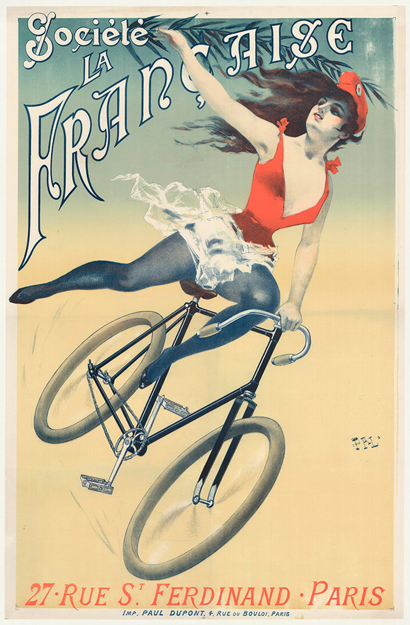 Societe La Francaise Original Vintage Bicycle Poster by PAL