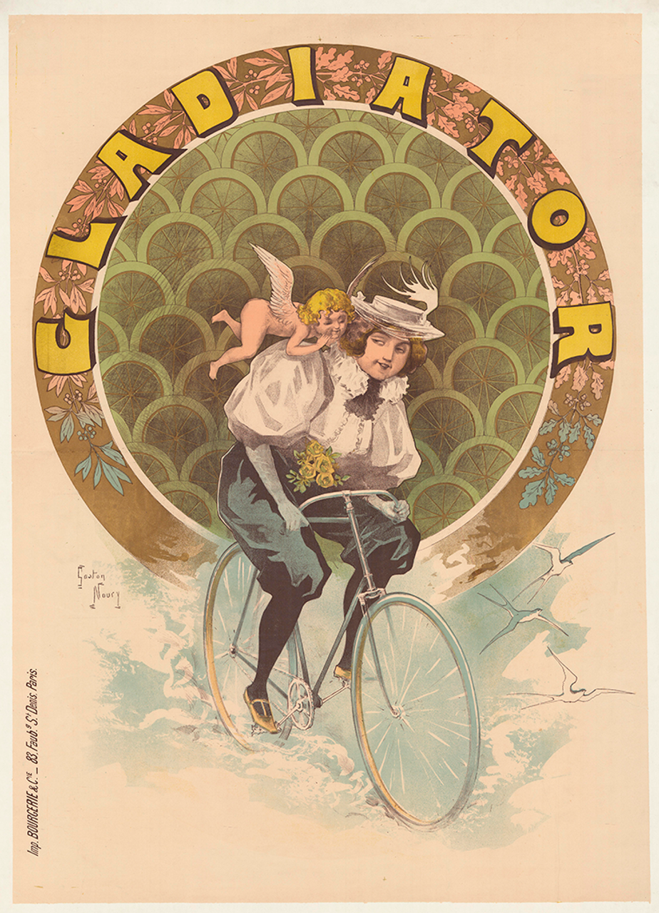 Gladiator Original Vintage Bicycle Poster by Noury