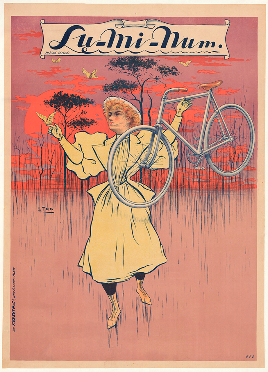 Lu-Mi-Num Original Vintage Bicycle Poster Tichon