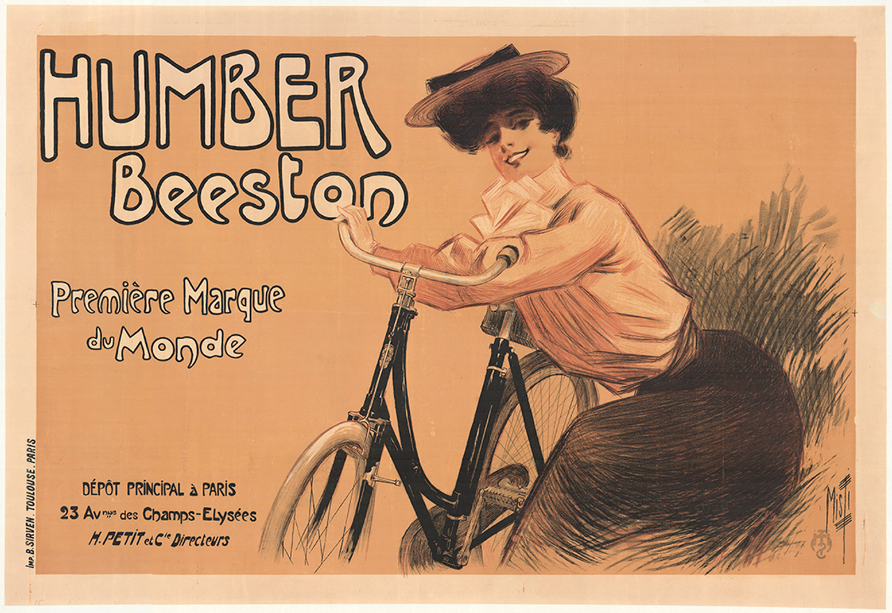 Humber Beeston Original Vintage  Bicycle Poster by Clouet