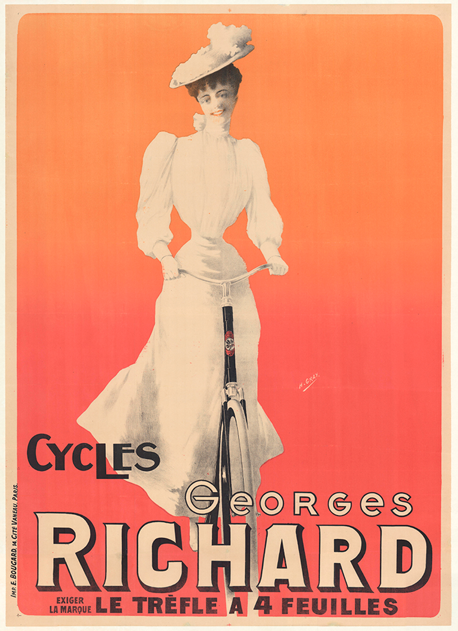 Cycles Georges Richard Original Vintage  Bicycle Poster by H Gray
