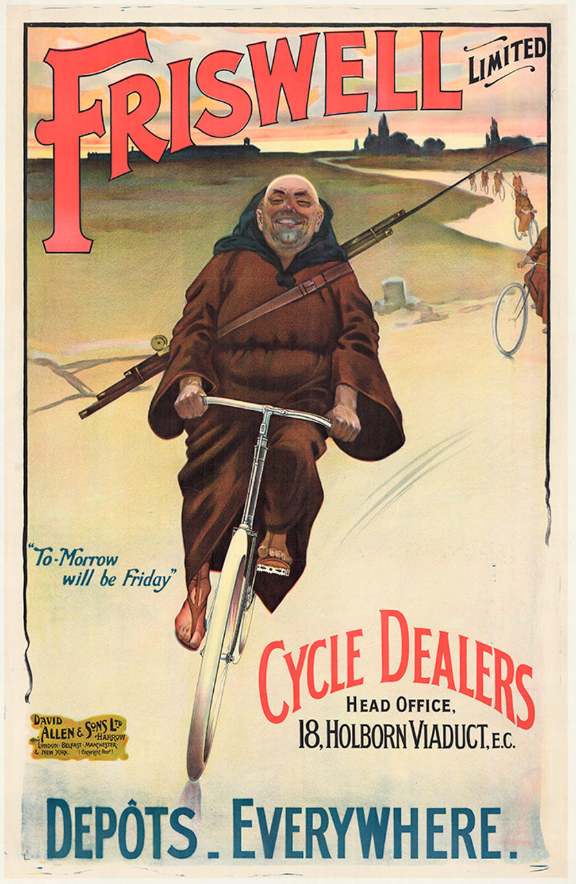 Friswell Ltd. Cycle Dealers Original Vintage Bicycle Poster