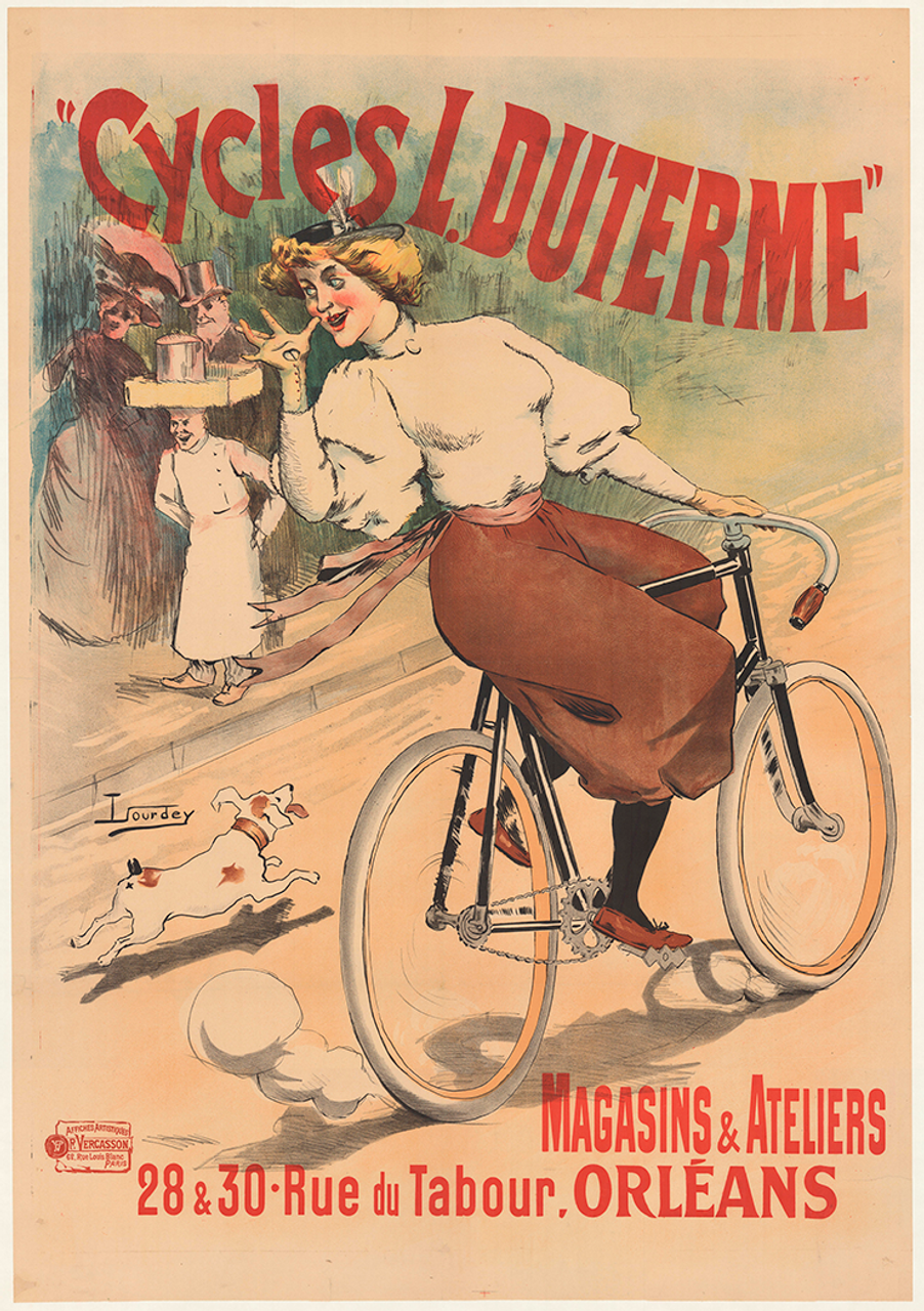 Cycles L. Duterme Original Vintage  Bicycle Poster by Lourdey