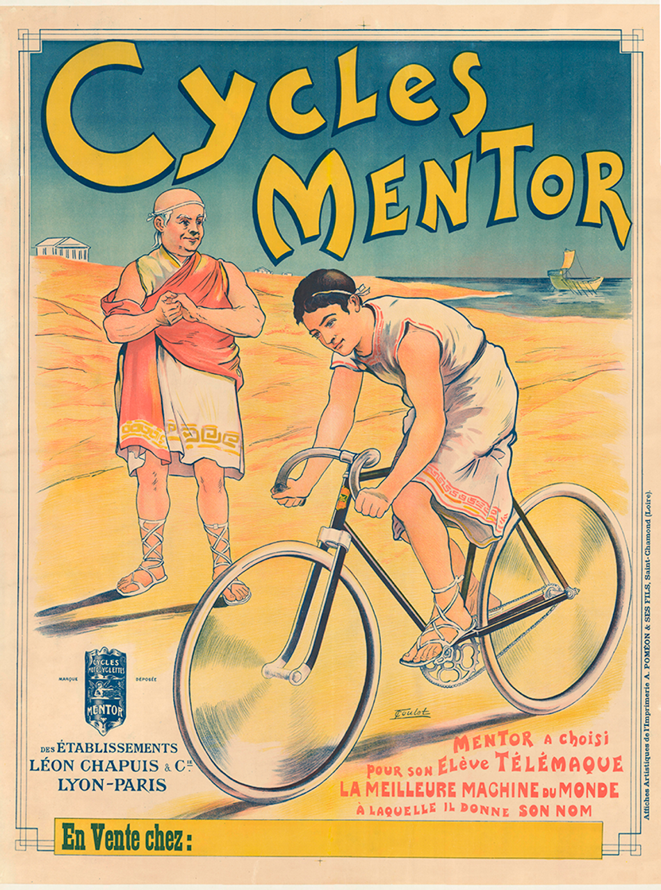 Cycles Mentor Original Vintage  Bicycle Poster by Clouet