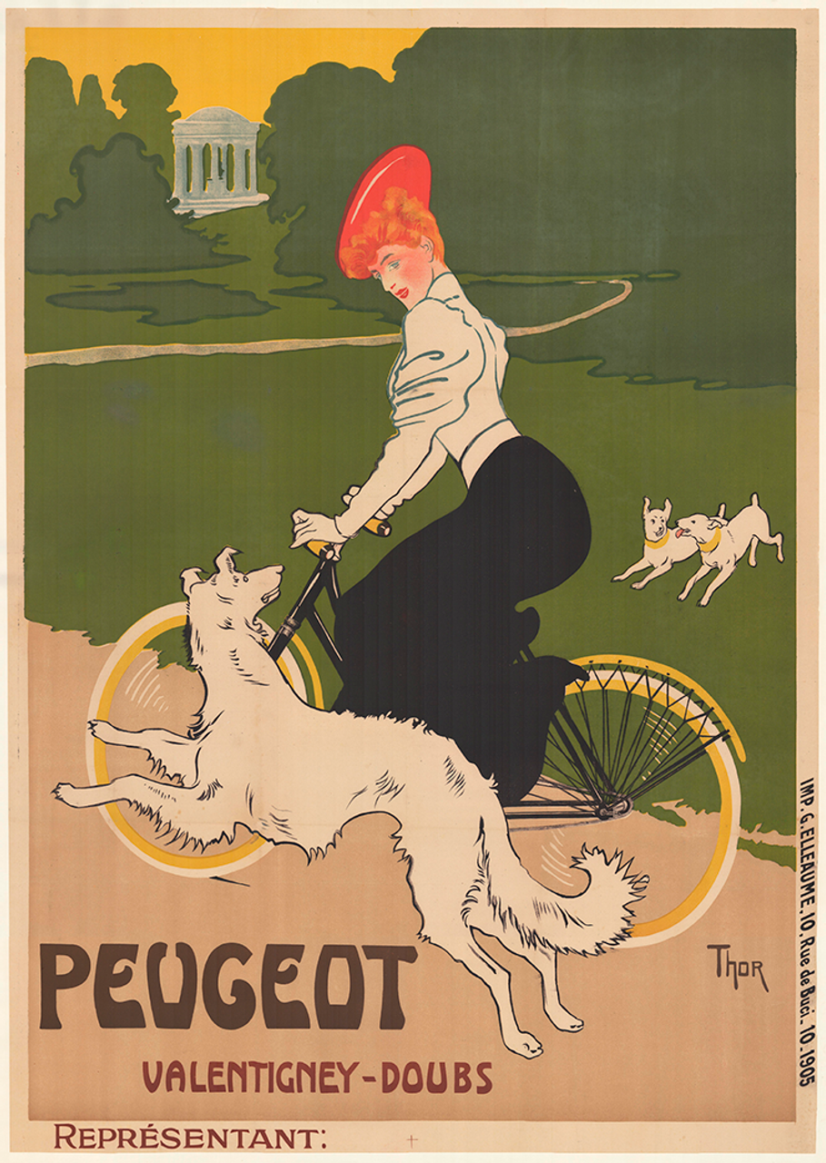 Peugeot Original Vintage  Bicycle Poster by Thor