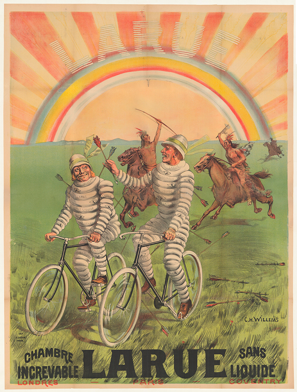 La Rue Original Vintage  Bicycle Poster by Willems