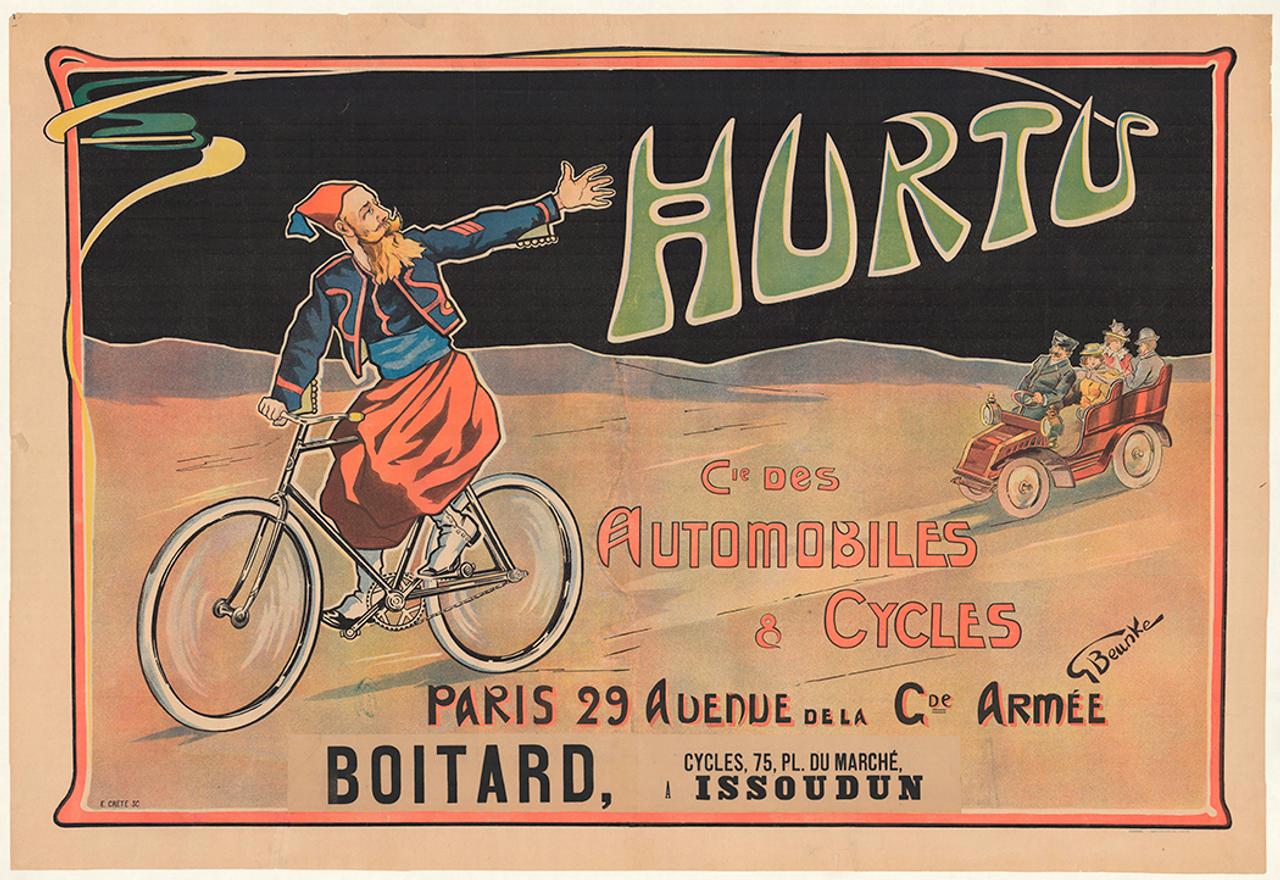 Hurtu Original Vintage  Bicycle Poster by Beunke