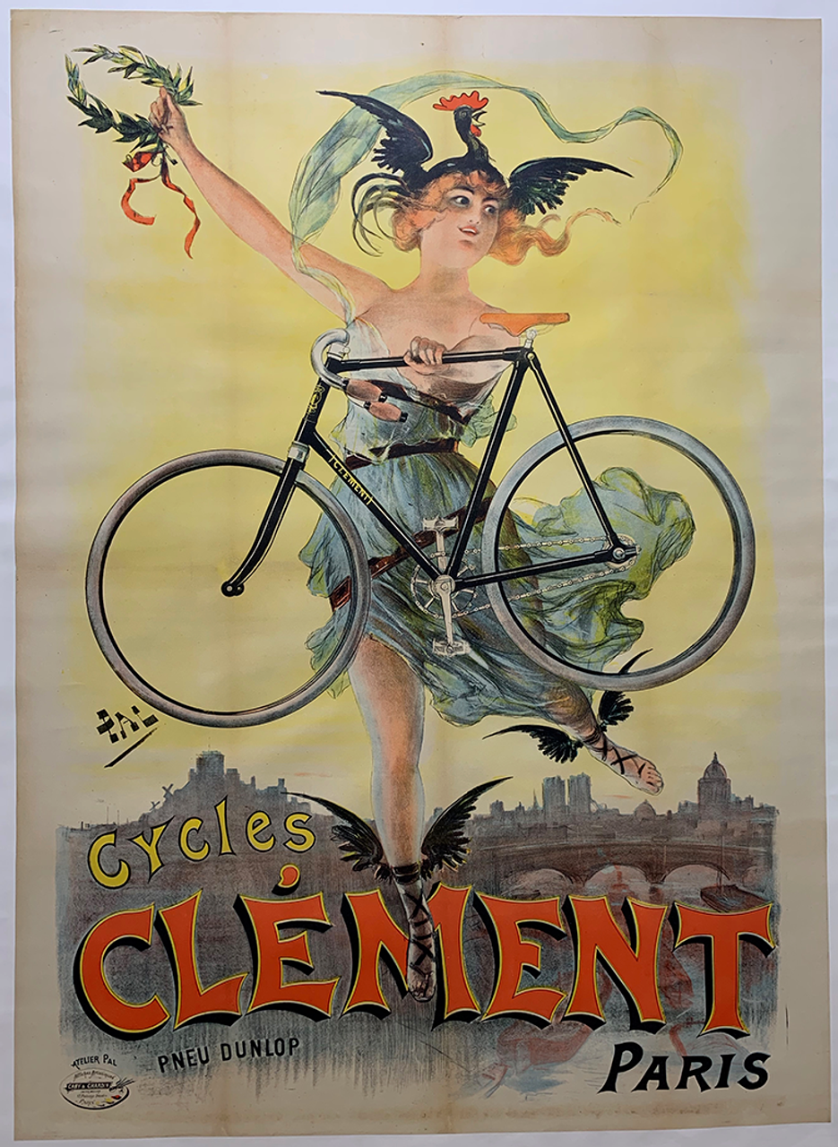 Cycles Clement Original Vintage  Bicycle Poster by PAL