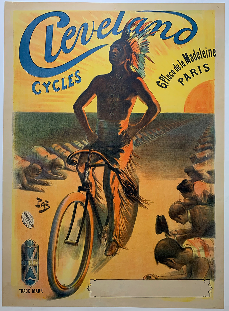 Cleveland Cycles Original Vintage  Bicycle Poster by PAL