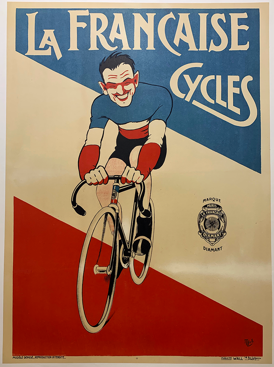 La Francaise Cycles Original Vintage Bicycle Poster by Mich