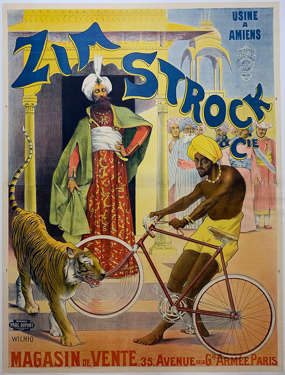 Zim Strock Original Vintage  Bicycle Poster by Wilhio
