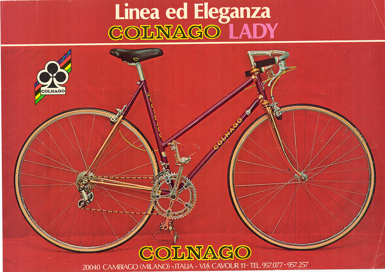 Colnago Lady Original Vintage Bicycle Poster